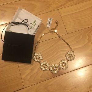 Kate Spade Pave Posy necklace